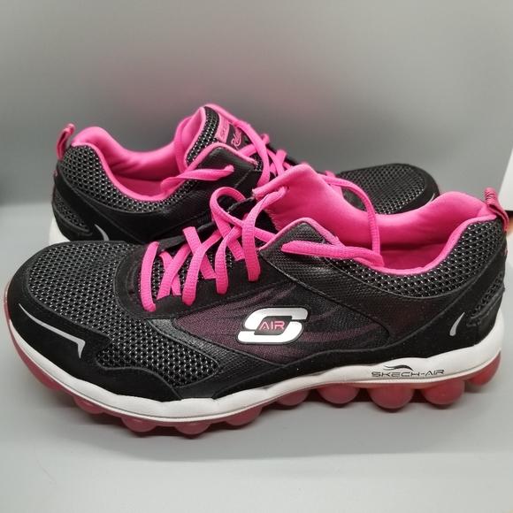 Skechers Shoes | Skechair Black Pink